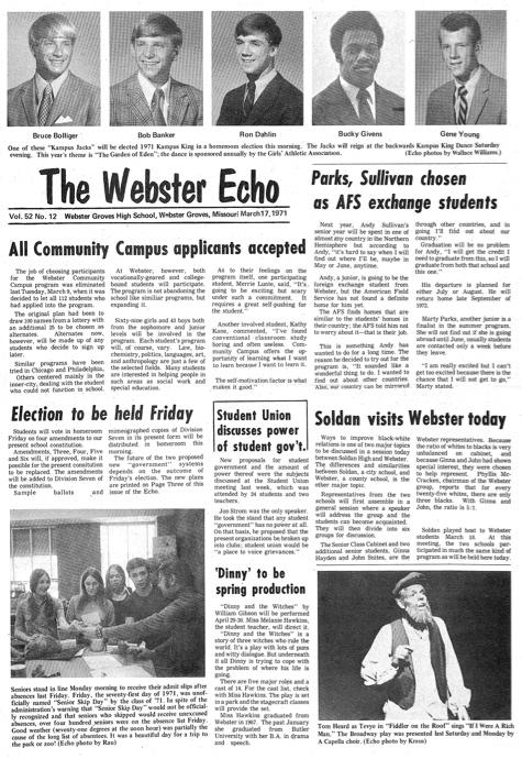 March 1971 Webster Echo